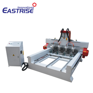 China 4-head Round Wood 3D Carving CNC Router Machine for Sale