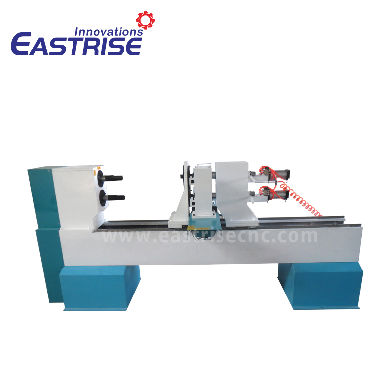 2-Axis Double Holders CNC Wood Turning Lathe