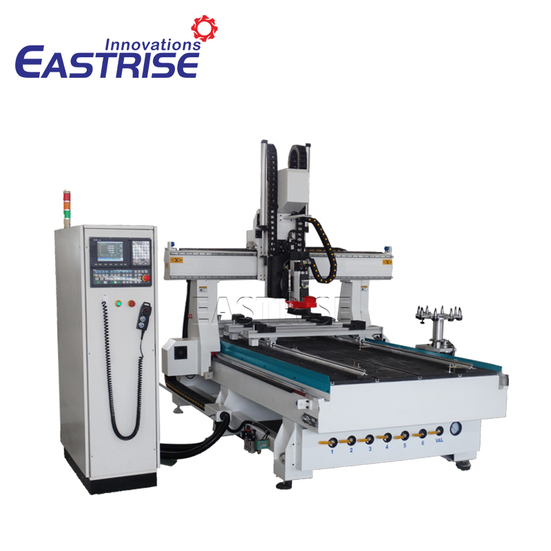 1325 4-axis ATC Cnc Router with Auto Tool Changer,PTP table