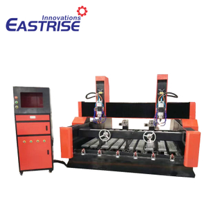 1325 1530 Double Spindles Stone Marble Granite Engraving Carving Cnc Router with Rotary Axis