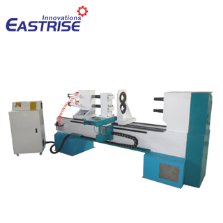 2-Axis Double-Tool Holder CNC Wood Turning Lathe Machine