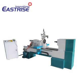 3-Axis 4-Axis Single-Tool Holder CNC Wood Turning Lathe Machine with Vertical Spindle